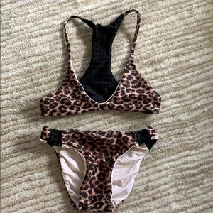 Acacia Honey Leopard Bikini Size XL (6-8)